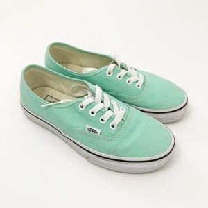 Vans Authentic Teal Blue Shoes size 6